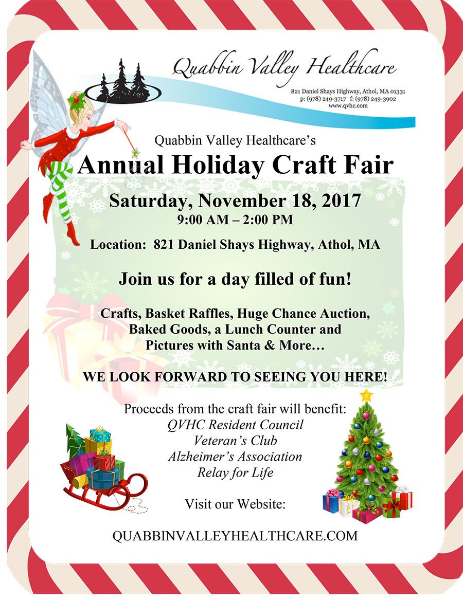 Christmas Craft Show Flyer.Craft Fair Holiday Fair Flyer 2017 2 Quabbin Valley